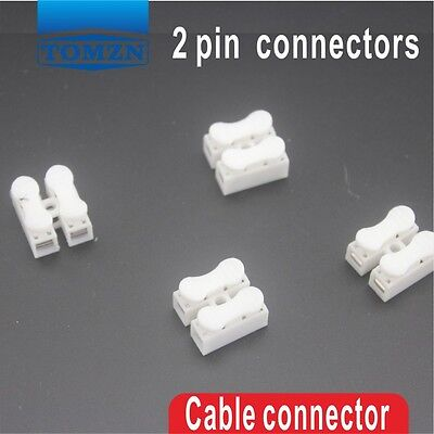 100Pcs 2 pin push quick cable connector terminal Wiring Terminal 10A 250V