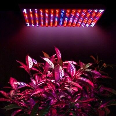 Indoor 225 LED Grow Light Lamp 14W Blue Red Orange White Hydroponic Plant Panel