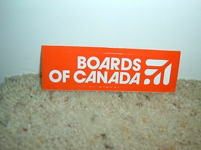 Boards Of Canada music sticker Red rectangle  New Promo
