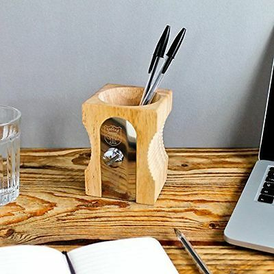 SUCK UK Pencil Sharpener Desk Tidy - Natural