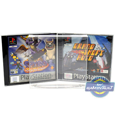 10 Playstation PS1 Game Box Protectors STRONG 0.5mm PET Plastic Case FITS SEALED