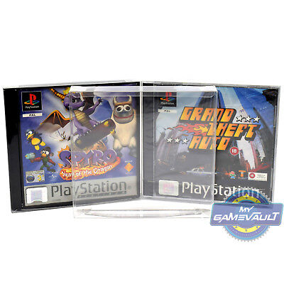 25 x PS1 Game Box Protectors for Playstation STRONG 0.5mm Plastic Display Case