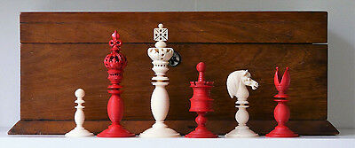 Early 19th C English Chess Set K=100mm