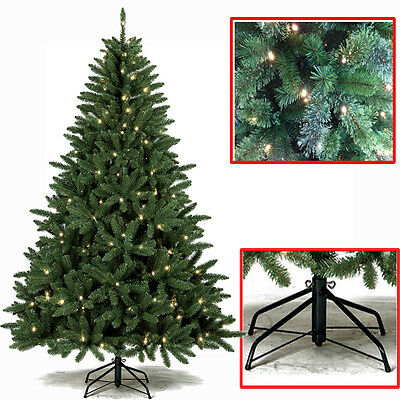 PREMIUM 6FT,7FT GREEN SPRUCE PRE-LIT CHRISTMAS TREE MULTI FUNCTIONAL LEDs  STAND