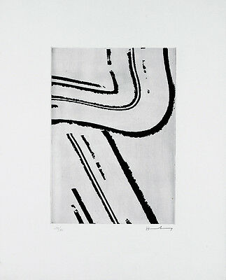 HANS HARTUNG - Etching on paper hand signed & numbered   Abstraction, tachism