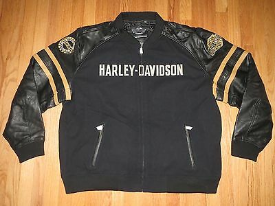 Men's Harley Davidson Heavy Insulated Leather Jacket 3XL **NEW**