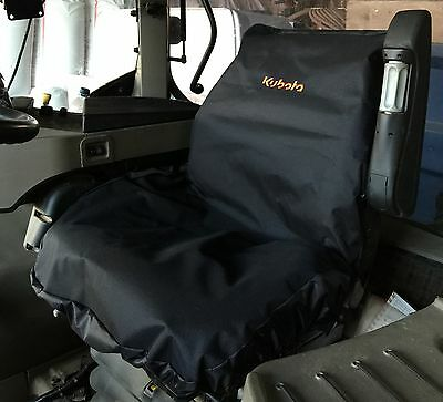 Embroidered with Kubota Logo Heavy Duty Waterproof Tractor Seat Cover
