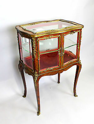 A French Kingwood And Ormolu Mounted Vitrine/display Cabinet