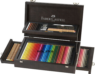 Faber Castell Art & Graphic Collection Holzkoffer Künstlerartikel 3x36 bestprice