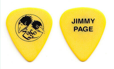 Black Crowes Jimmy Page Yellow Guitar Pick - 2000 Tour