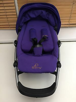 QUINNY BUZZ Xtra seat unit & seat covers Purple Bar And Hood And Pads Free Post