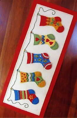 AND THE STOCKINGS WERE HUNG HAND EMBROIDERY PATTERN, From Bird Brain Designs NEW