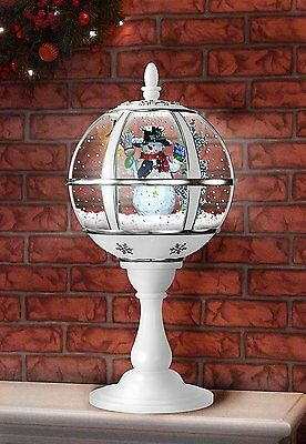 White And Silver 59cm Tabletop Snowglobe With LED Lights (IDI9660)