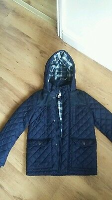 navy quilted boys jacket m&s age 9-10yrs