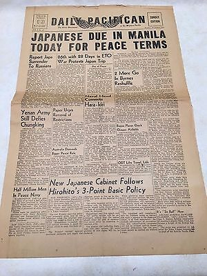 August 19, 1945 WW2 Daily Pacifican Army Newspaper