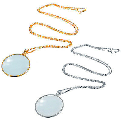 New Useful Monocle Lens Necklace With 6x Magnifier Coin Magnifying Glass Pendant