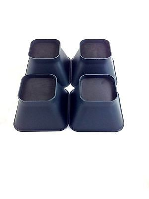 """Set Of 4 Universal 9cm 3.5"""" Stackable Furniture Bed Chair Raisers Elephant Feet"""
