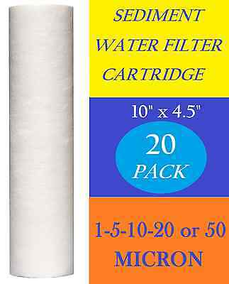 """20 Pack Sediment Water Filters Cartridges  10"""" x 4.5"""" Reverse Osmosis"""