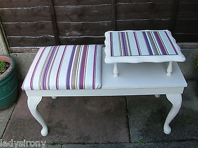 """"""" CLEARANCE SALE"""" Shabby Chic Craig Rose Upcycled Telephone Table"""