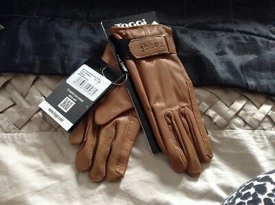 Toggi Brown Leather Deer Skin Riding Gloves Size XS