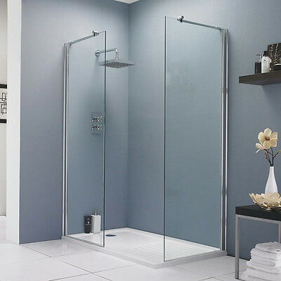 Hudson Reed 760mm Walk In Wet Room Shower Screen Panel 8mm Easy Clean Glass