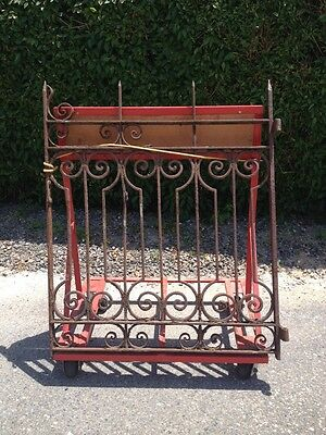 "Antique Cast Iron Rusty Garden Gate/Door Ornate Design 47"" X 38"""
