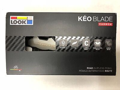 2017 Look Keo Blade Carbon chromo black pedals w/grey cleats set 16 Nm NEW!