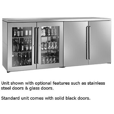 """Perlick BBRN80 80"""" Narrow Door Four-Section Refrigerated Back Bar Cabinet"""