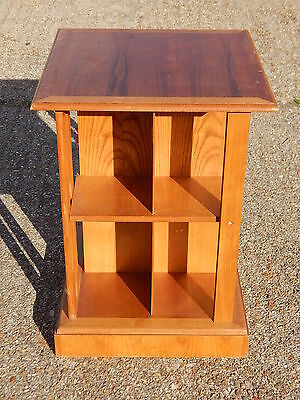 Modern oak four sided book shelf stand bookcase antique style non revolving type