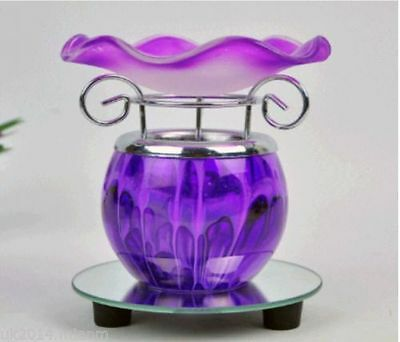 Purple Electric Scented Oil Warmer Lamp Wax Tart Burner Fragrance Diffuser
