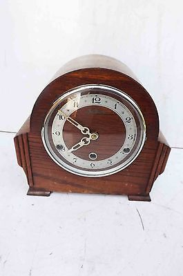 westminster chime clock oak cased wrking order @@ free UK post.