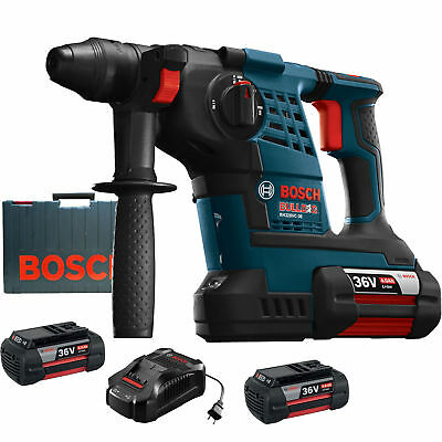 "36V 1-1/8"" SDS-Plus Rotary Hammer '3' Batt Kit Bosch Tools RH328VC-36K New"