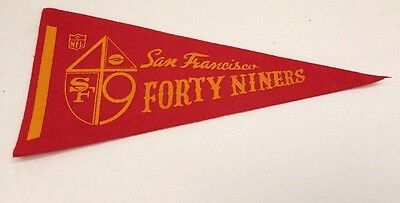 Vintage San Francisco FORTY NINERS 49ers NFL Mini Pennant 1970s