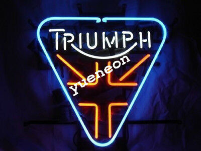 Rare Triumph Britis Motorcycles Home Beer Bar Real Neon Light Sign FREE SHIPPING