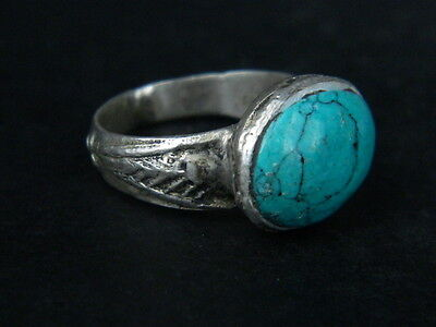 "Antique Post Medieval Silver Ring With Nice Stone 1800 Ad  ""tc431"