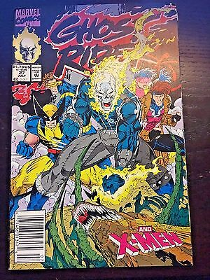 Ghost Rider (1990 2nd Series) #27 8.5 VF+ Very Fine+ Marvel Comics Newsstand