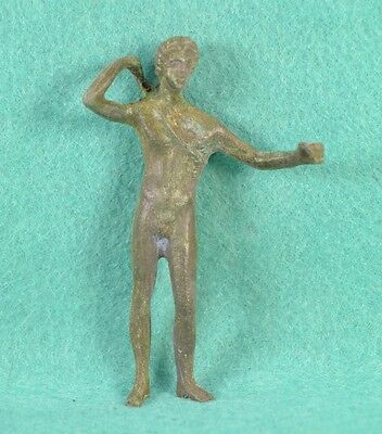 Roman Bronze Figurine of God Apollo