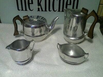 lovley vintage Picquot Ware 4 piece tea coffee set FREE POST  NOW REDUCED