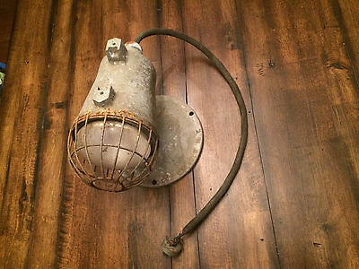 "VTG 14"" Industrial Crouse-Hines Homelite Loft Stage Spot Cage Light PORCH RUSTIC"