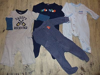 Baby Boy Clothes 6-9 MO, Lot of 4, One Piece Outfits, Great Condition
