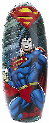 Superman Inflatable Punching Boxing Bopper Bag Weighted Kids Toy Gift