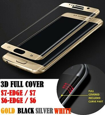 3D Full Coverage Tempered Glass Screen Protector For Samsung Galaxy S7 EDGE S6