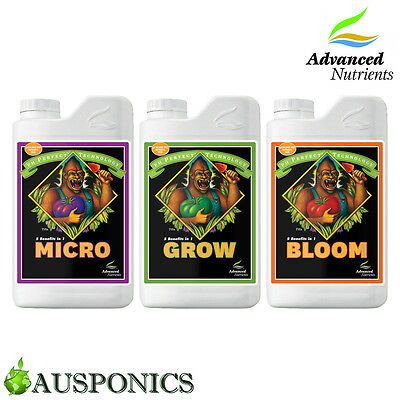 Advanced Nutrients Ph Perfect 3-Part 1L Base Nutrient Combo For Hydroponics