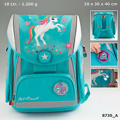 New Ylvi And The Minimoomis School Backpack With Led Turquoise