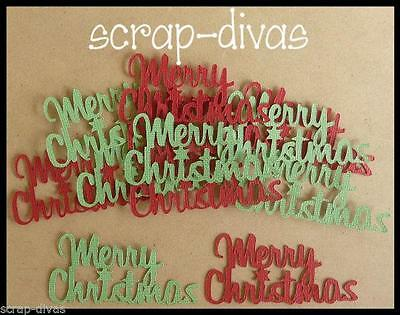 Scrapbooking Merry Christmas Style 3 Embellishments Die Cuts x 10