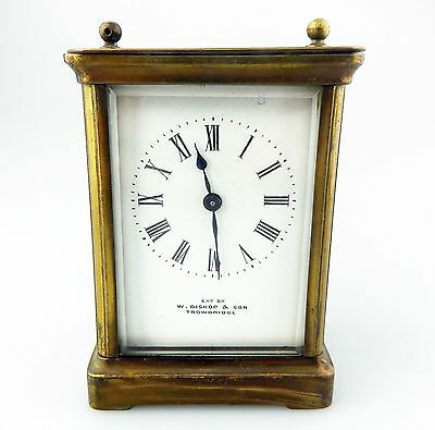 Antique Carriage Clocks : Bishop & Son Carriage Clock C.19thC