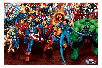 Poster - Marvel - Heroes Attack