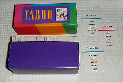 TABOO Boxed Game Cards 1989  (a)