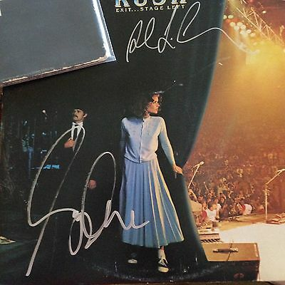 Rush Autographed LP Original by Geddy Lee and Alex Lifeson