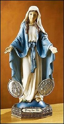 Our Lady Of The Miraculous Medal Madonna Saint Statue Virgin Mary Catholic Gift